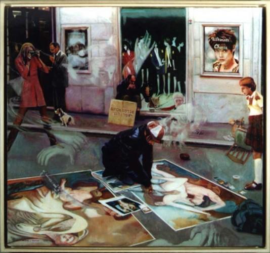 "Akedah- Ultimate Choice. oil on birch panel 31.5""x 33.75"" (1998)"