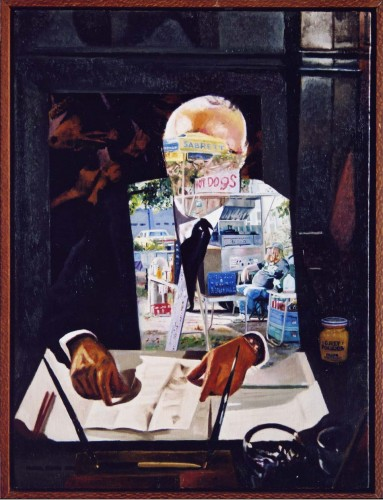 "CEO. oil on linen 24""x 18"" (2002)"