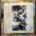 """Madlyn and Larry. oil on birch panel 28""""x 25"""" (1991)"""
