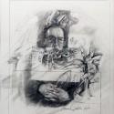 """Self Portrait. graphite on paper 16"""" x 14"""" (1999)"""