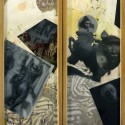 """Seed of Abraham. oil on birch panel 33""""x 51""""open 33""""x 25.5 closed (1979)"""