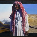 "Esau and Ishmael, Morning Evening.  oil on birch panel 24""x60"" (2008)"